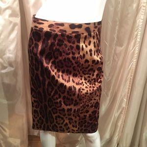 Dolce & Gabbanna silk animal print leopard skirt